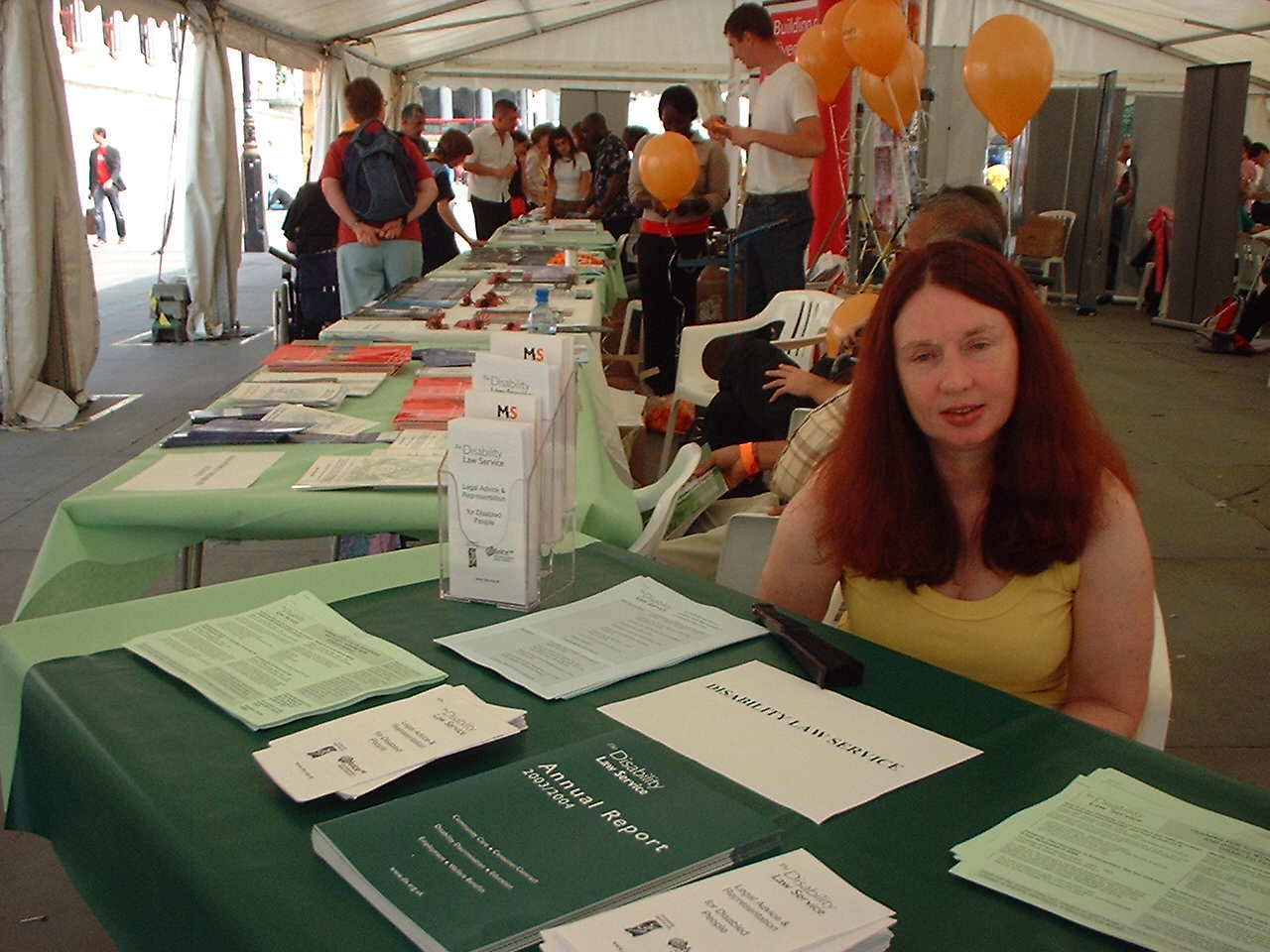 DLS table at an exhibition