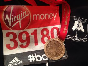A DLS runner's medal from the London Marathon.